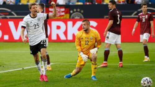 Germany 7-1 Latvia: Thomas Muller scores in final Euro 2020 warm-up friendly