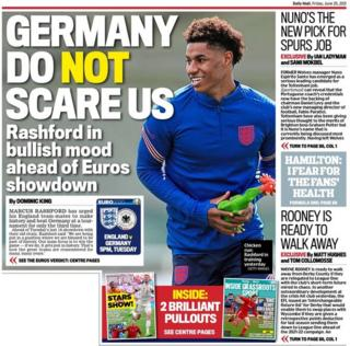 Friday's Daily Mail back page