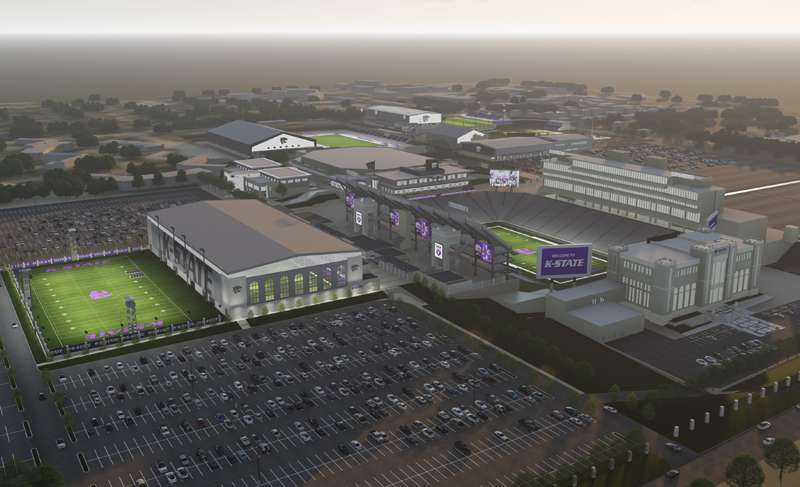 A rendering of the athletic facilities. Image courtesy